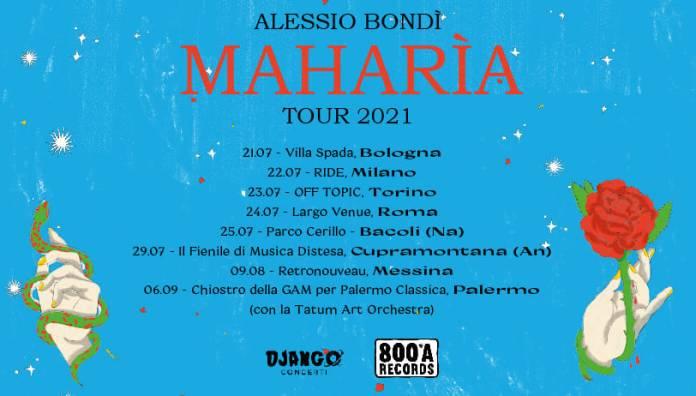 Date concerti Alessio Bondi