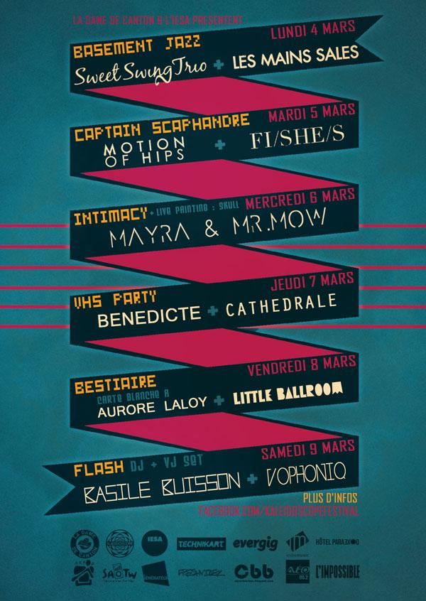 Programme Kaléidoscope Festival