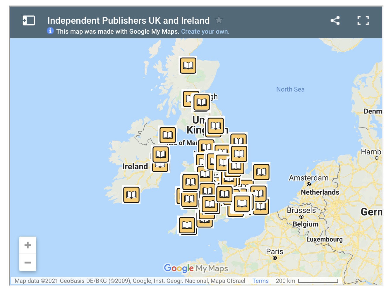 Publishers Map