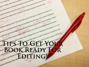 Tips To Get Your Book Ready For Editing