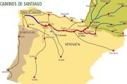 cartina-santiago-compostela migliori trekkin più belli europa