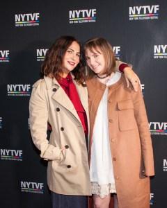 Jenni Konner and Lena Dunham at the New York Television Festival