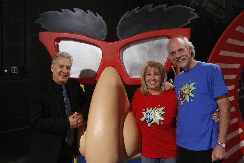 "Marc Summers, Robin and Harvey, ""Double Dare Reunion"""