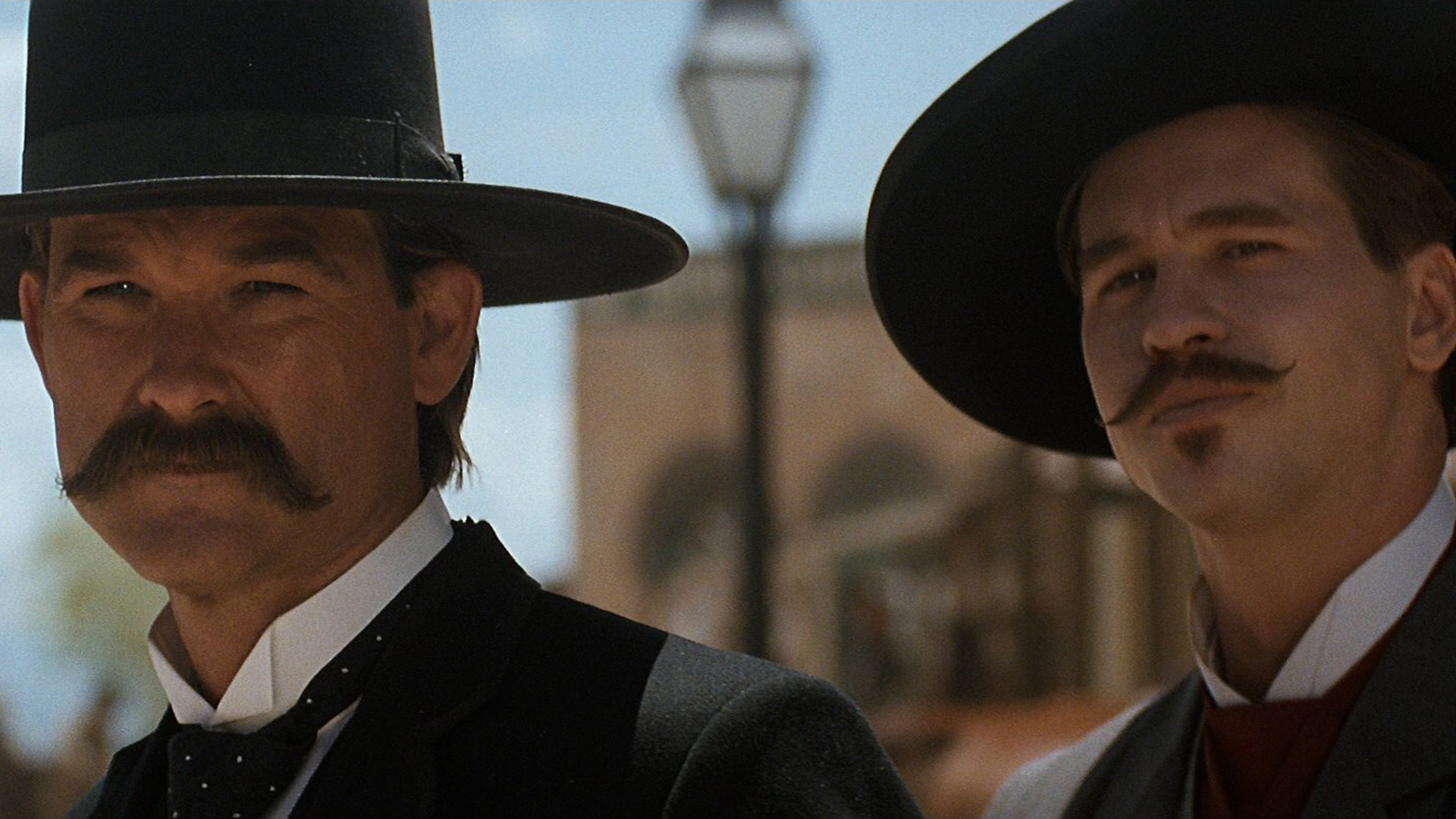 Kurt Russell and Val Kilmer in Tombstone as Wyatt Earp and Doc Holliday | kesseljunkie.com