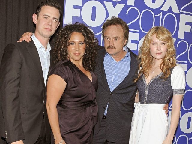Cast of 'The Good Guys' - Colin Hanks, Diana Maria Riva and Bradley Whitford2010 FOX Programming Presentation, New York, America - 17 May 2010