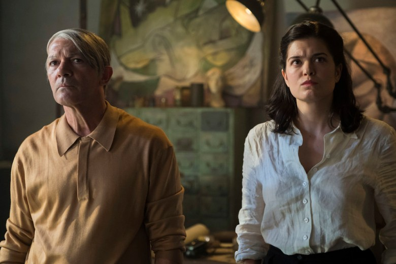 Budapest, Hungary - Antonio Banderas (Pablo Picasso) with Samantha Colley (Dora Maar) in Season 2 of National Geographic's Genius (National Geographic/Dusan Martincek)