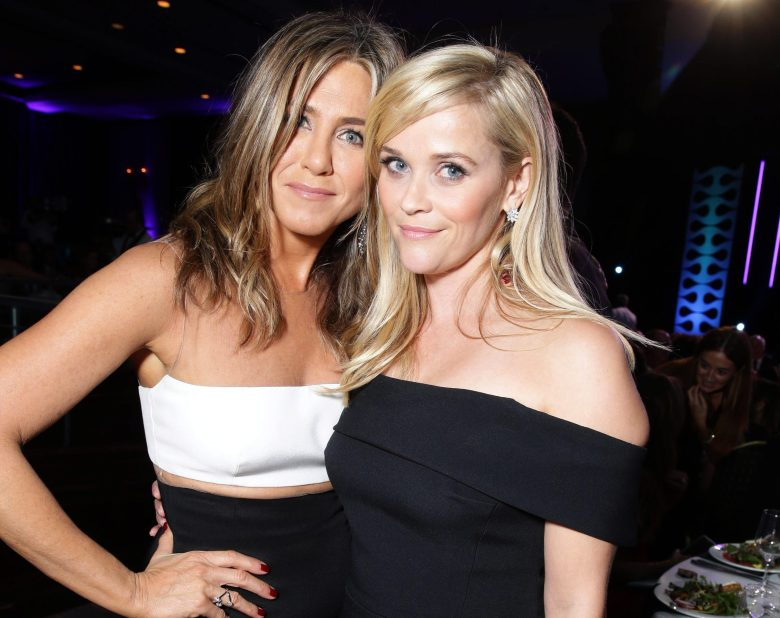 Exclusive - Jennifer Aniston and Reese Witherspoon seen at the 29th annual American Cinematheque Award honoring Reese Witherspoon at Hyatt Regency Century Plaza, in Century City, CA29th annual American Cinematheque Award honoring Reese Witherspoon, Century City, USA - 30 Oct 2015