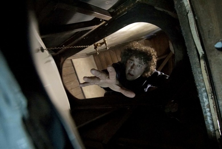 Alan Davies films a scene for 'Jonathan Creek'Rare photos taken at Pinewood Studios' underwater stage, Buckinghamshire, Britain - Aug 2009 Underwater photos from some of Pinewood Studios' most famous films are to go on display for the first time. The photographs offer a rare glimpse into life behind the scenes at the studio's world famous underwater stage. They feature stars such as Keira Knightley, Myleene Klass, Sharon Stone and Matt Lucas, who have all swum in the giant tank. The underwater stage, which opened in 2005, is a globally unique facility and has been used for a huge number of TV commercials, music videos and films, including the Boat That Rocked, Bourne Ultimatum, Atonement, Elizabeth and Casino Royale. It houses a permanently filled water tank, which holds 1.2 million litres of water and is heated at 32 degrees.These shots were all taken by Phoebe Rudomino, a commercial diver and photographer who has worked at the facility since it opened five years ago.
