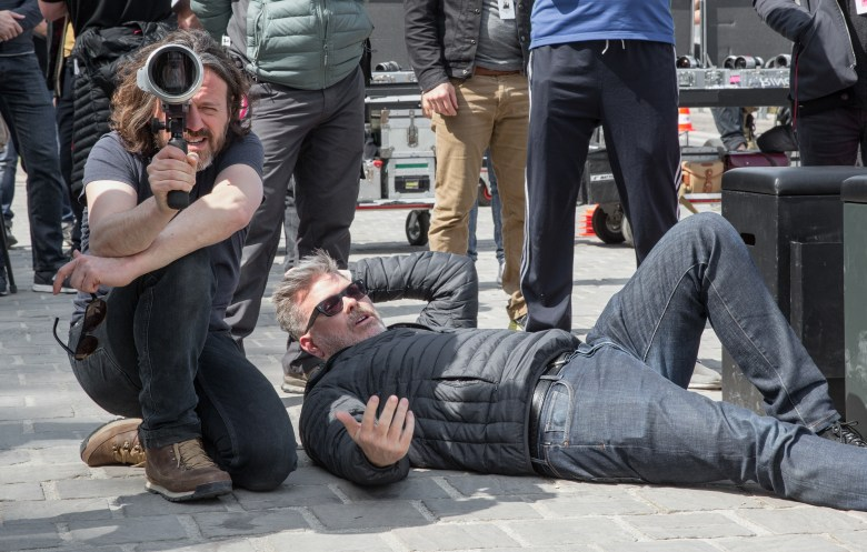 """Director of Photography Rob Hardy and Director Christopher McQuarrie on the set of """"Mission Impossible - Fallout"""""""