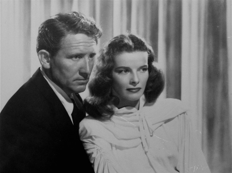 Actor Spencer Tracy is shown posing with longtime companion and co-star Katharine Hepburn during their heyday, date and film not knownTRACY HEPBURN, NEW YORK, USA