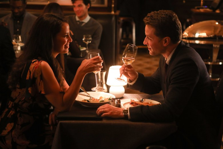 """MANIFEST -- """"Point Of No Return"""" Episode 108 -- Pictured: (l-r) Athena Karkanis as Grace Stone, Josh Dallas as Ben Stone -- (Photo by: Craig Blankenhorn/NBC/Warner Brothers)"""