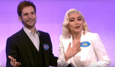 'SNL' Mocks Lady Gaga's '100 People in a Room' Speech on 'Celebrity Family Feud'