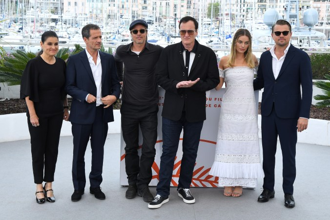 Shannon McIntosh, David Heyman, Brad Goreski, Quentin Tarantino, Margot Robbie and Leonardo DiCaprio'Once Upon A Time in Hollywood' photocall, 72nd Cannes Film Festival, France - 22 May 2019