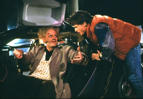 """Christopher Lloyd and Michael J. Fox, """"Back to the Future"""""""
