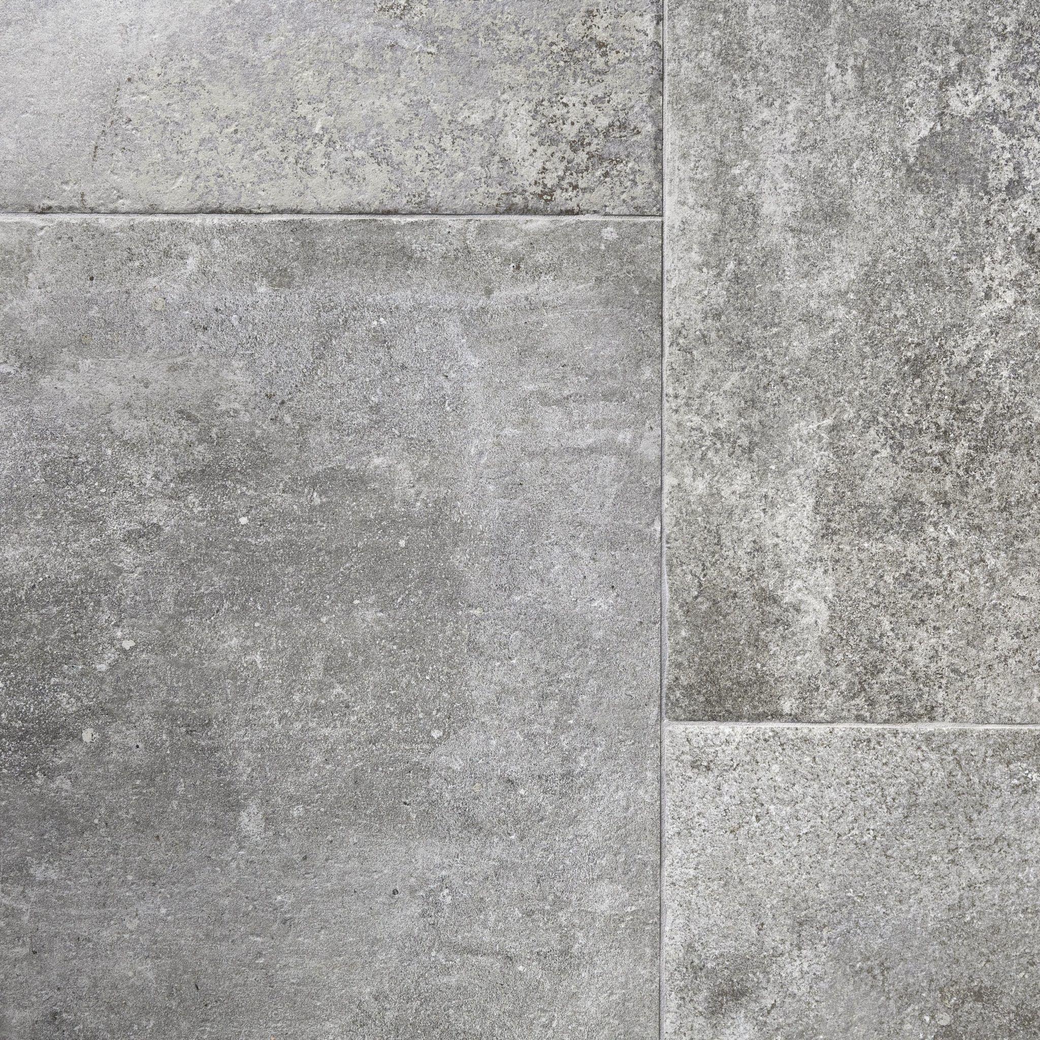 dark grey tumbled stone effect porcelain