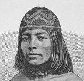 Yurok Woman in Contributions to North American Ethnology, Volume III. Washington: Government Printing Office, 1877.
