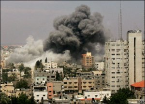 Esplosione a Gaza, picture from BBC News