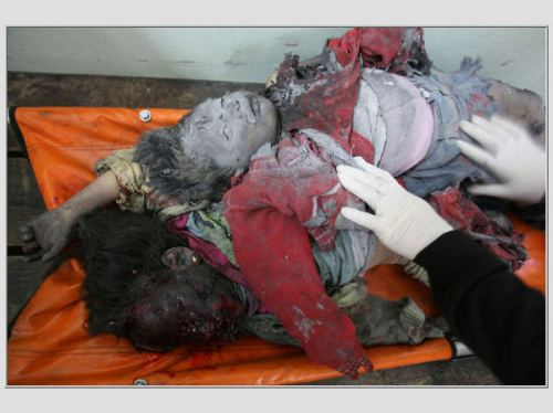 Bambine palestinesi uccise dalle bombe israeliane