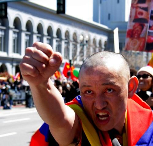 Manifestante tibetano