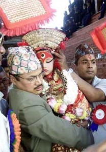 Celebrazione del Kumari Jatra