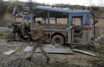 Bus blast Srinagar
