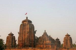 Esempio di torre nagara, Lingaraja Temple, Bhubaneshwar, Orissa. Foto di Monica Guidolin.
