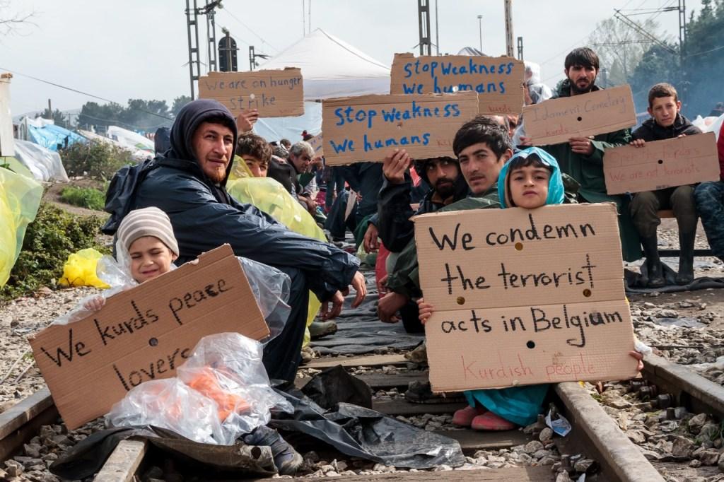 "Idomeni ""open the border"". Foto Mattia Alunni Cardinali"