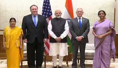 2+2 dialogue: Sushma, Sitharaman meet with American counterparts