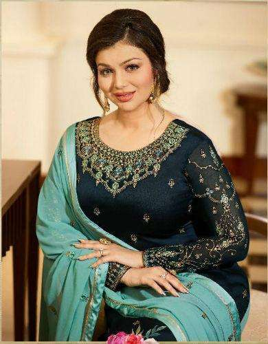 Fiona Ayesha Sharara Vol 2 Georgette Satin With Embroidery Suit 22215 Sale
