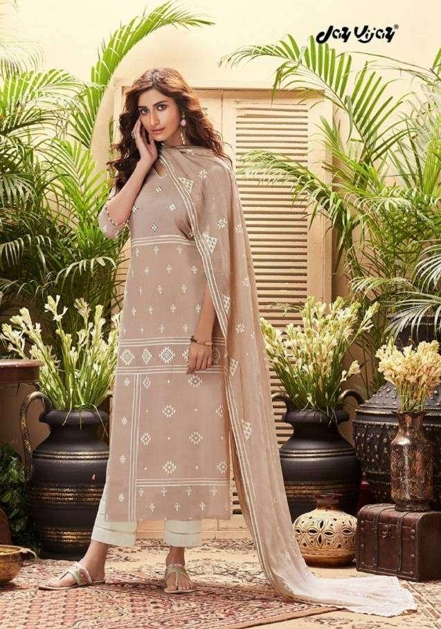 JayVijay Intrigue 6 Pure Cotton Dobby and Block Print Work Salwar Suit 4827 Sale