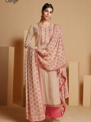 Ganga Rabta Cotton Solid With Embroidery Suit D.No.S0441-B Salwar Suits
