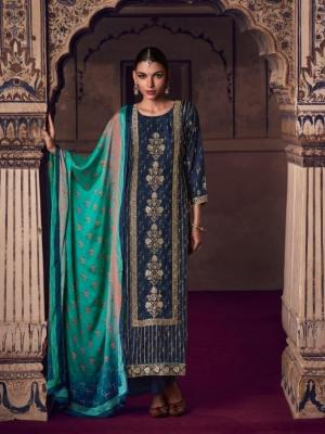 Omtex Tirth Woven Azza Silk With Hand Work Suit D.No.51 Omtex Tirth