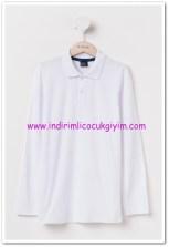 DeFacto genç erkek beyaz polo yaka tişört-18 TL