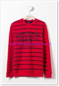 DeFacto genç erkek kırmızı çizgili uzun kollu sweatshirt-30 TL