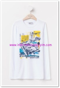 DeFacto hot weels baskılı genç erkek tişört-20 TL