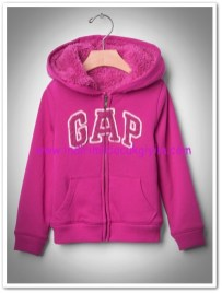 Gap kız çocuk fuşya polarlı kapşonlu sweatshirt-140 TL