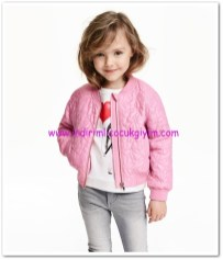 HM-kız çocuk pembe pilot ceket-70 TL
