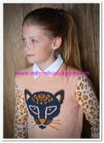Mango kız çocuk açık pembe kazak-40 TL