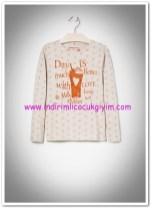 Mango kız çocuk parlak puantiyeli tişört-25 TL