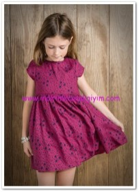Mango kız çocuk yıldız desenli elbise-50 TL