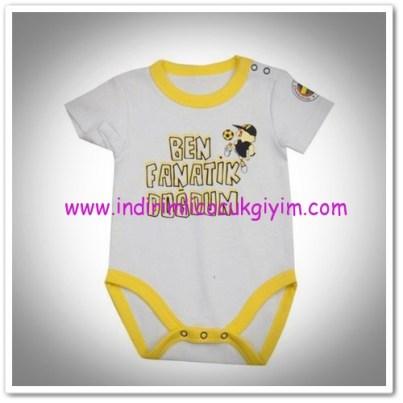 Panço erkek bebek beyaz fenerbahçe body-19,50 TL