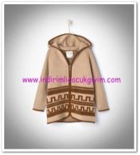 Zara kız çocuk kapşonlu örme hırka ceket-100 TL