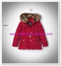 Zara kız çocuk koyu kırmızı kapşonlu dolgu mont-166 TL