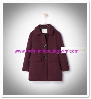 Zara kız çocuk mürdüm palto-176 TL