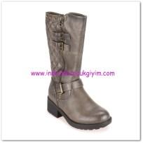 FLO kız çocuk gri parlak çizme-100 TL