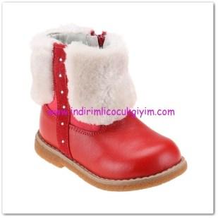 FLO kız çocuk kırmızı deri çizme-60 TL