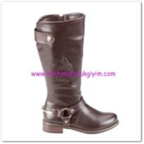 Flo kız çocuk kahverengi metal tokalı çizme-150 TL