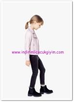 Mango kız çocuk dar kesim kadife pantolon-30 TL