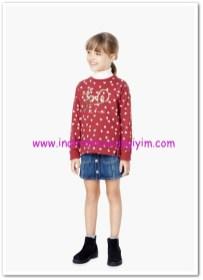 Mango kız çocuk kırmızı payetli sweatshirt-30 TL