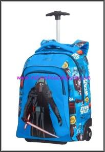 Samsonite-Starwars-çekçekli mavi çocuk çantası